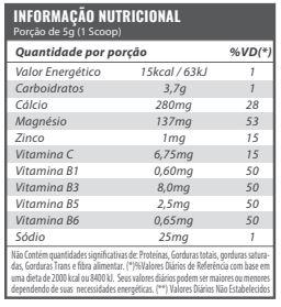 tabela nutricional c4 beta pump